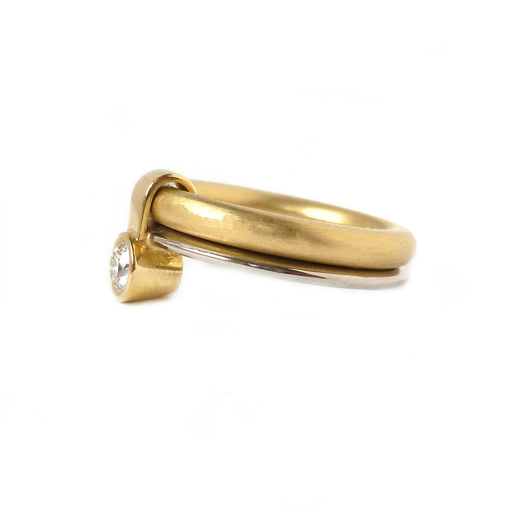 18k Gold and Diamond Ring (r14) - Sue Lane Contemporary Jewellery - 2