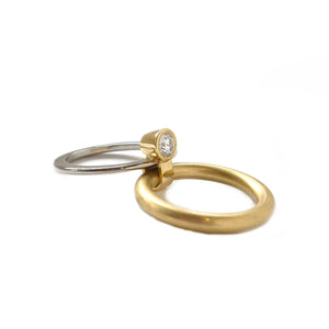 18k Gold and Diamond Ring (r14) - Sue Lane Contemporary Jewellery - 3