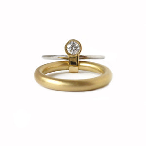 18k Gold and Diamond Ring (r14) - Sue Lane Contemporary Jewellery - 4