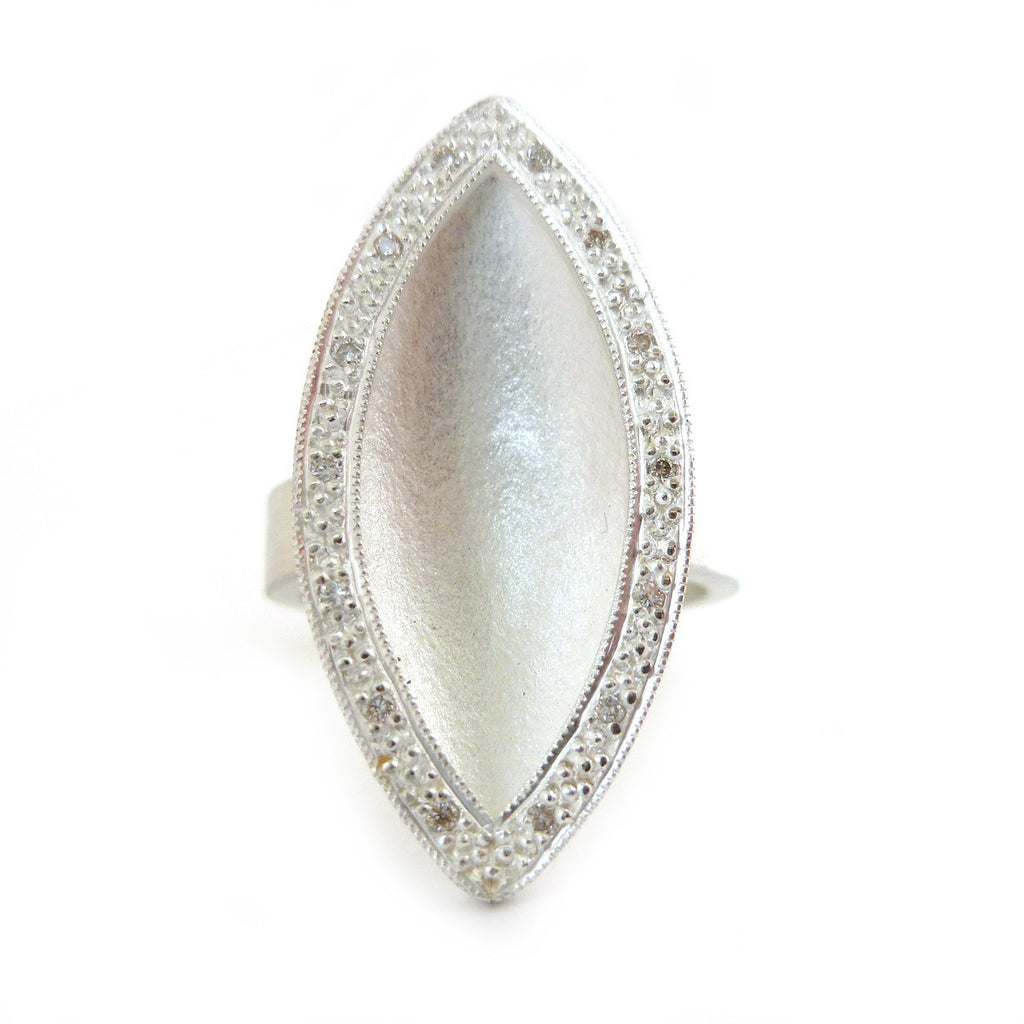 SOLD: Silver and Diamond Ring (OF36) - Sue Lane Contemporary Jewellery