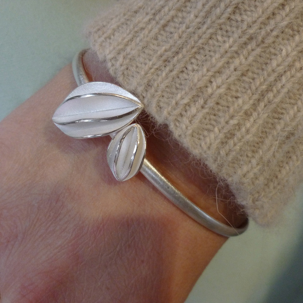 Silver Bangle (bn03) - Sue Lane Contemporary Jewellery - 4