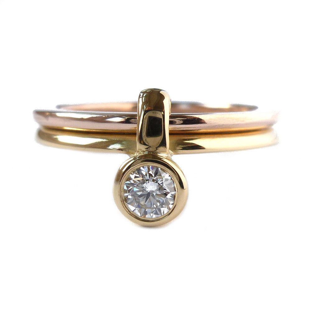 18k Rose and Yellow Gold Ring (rd16) - Sue Lane Contemporary Jewellery - 3