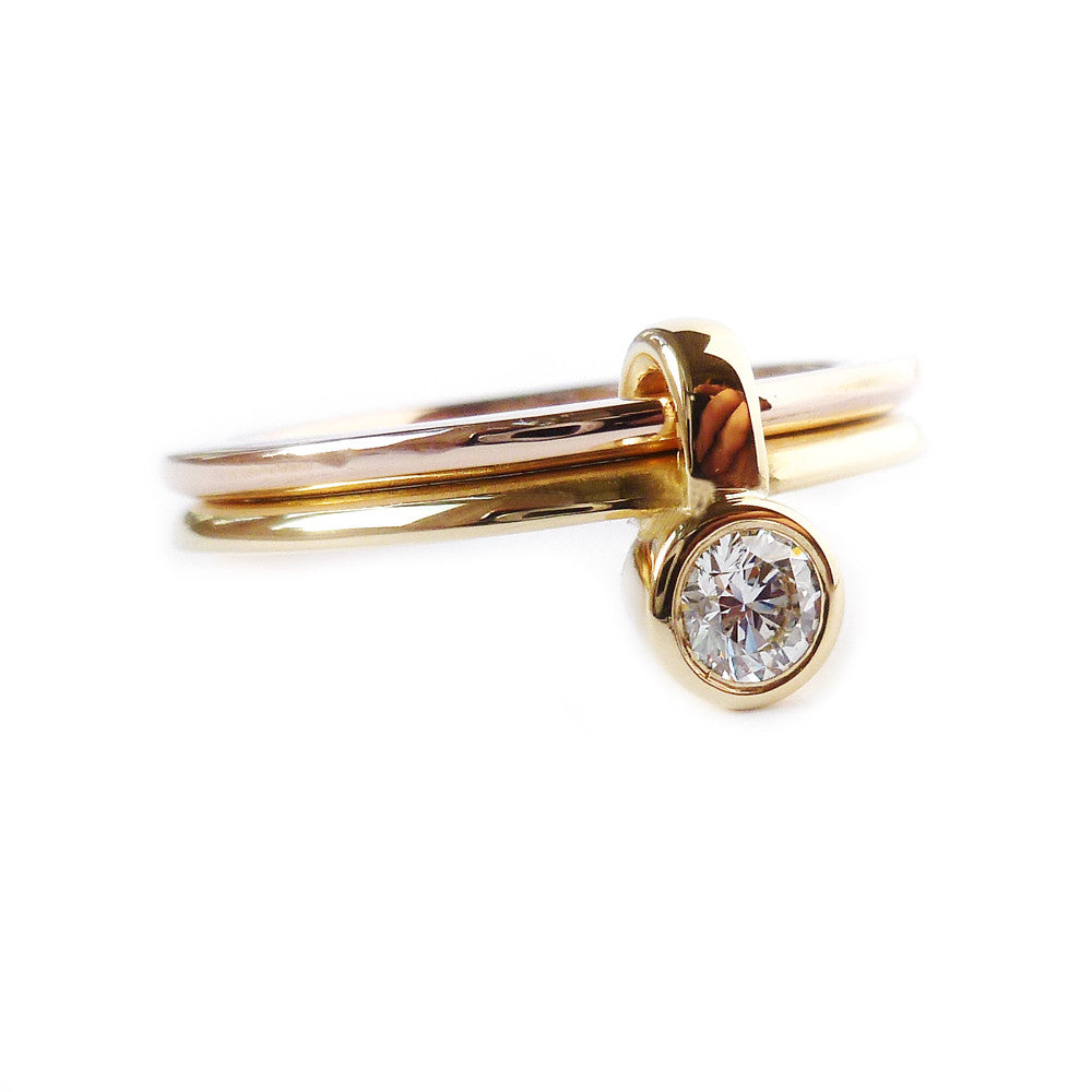 18k Rose and Yellow Gold Ring (rd16) - Sue Lane Contemporary Jewellery - 1