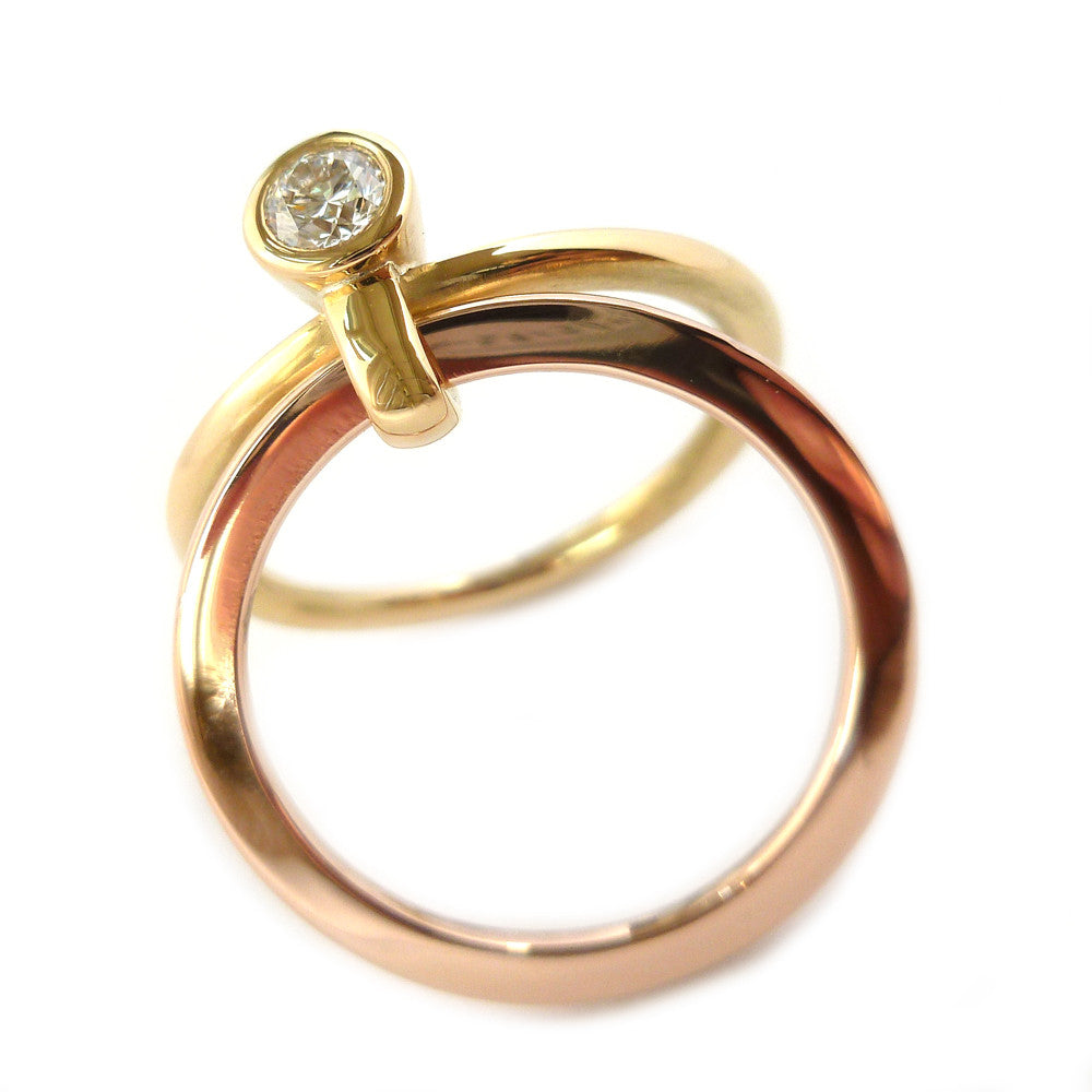 18k Rose and Yellow Gold Ring (rd16) - Sue Lane Contemporary Jewellery - 2