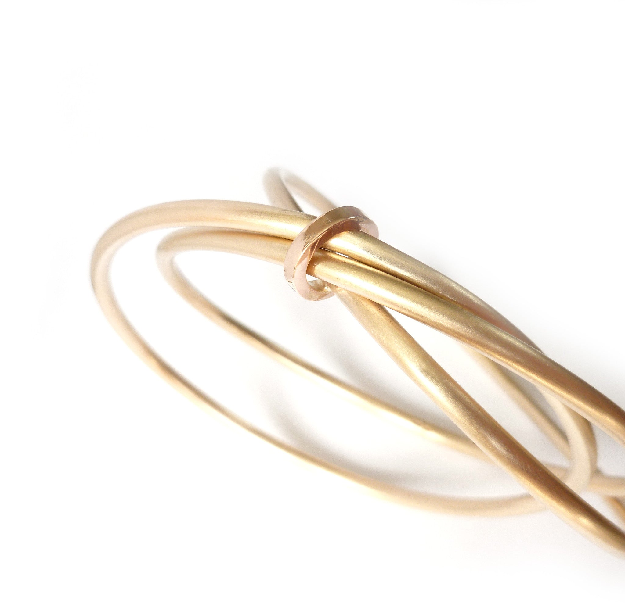 rose silver and products unique gold brushed bangles three bangle with finish unusual modern colour bespoke