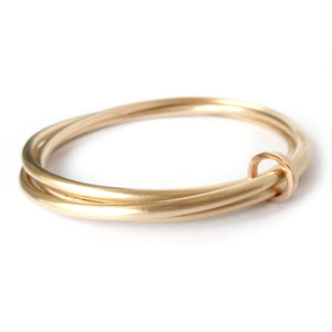 Unusual, unique, bespoke and modern gold Russian style bangle with brushed finish. Handmade by Sue Lane Contempoary Jewellery in Herefordshire, UK