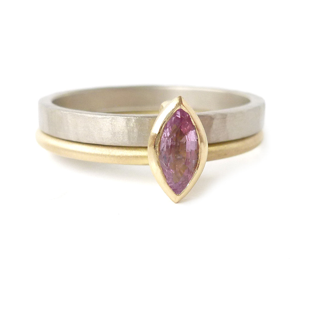 18k Gold and Pink Sapphire Ring (nrg10) - Sue Lane Contemporary Jewellery - 4