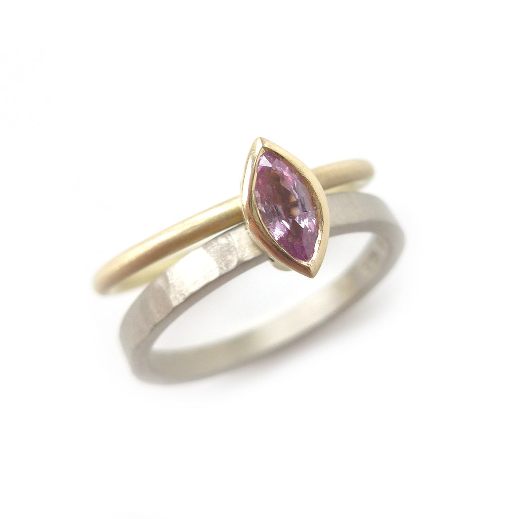 18k Gold and Pink Sapphire Ring (nrg10) - Sue Lane Contemporary Jewellery - 6