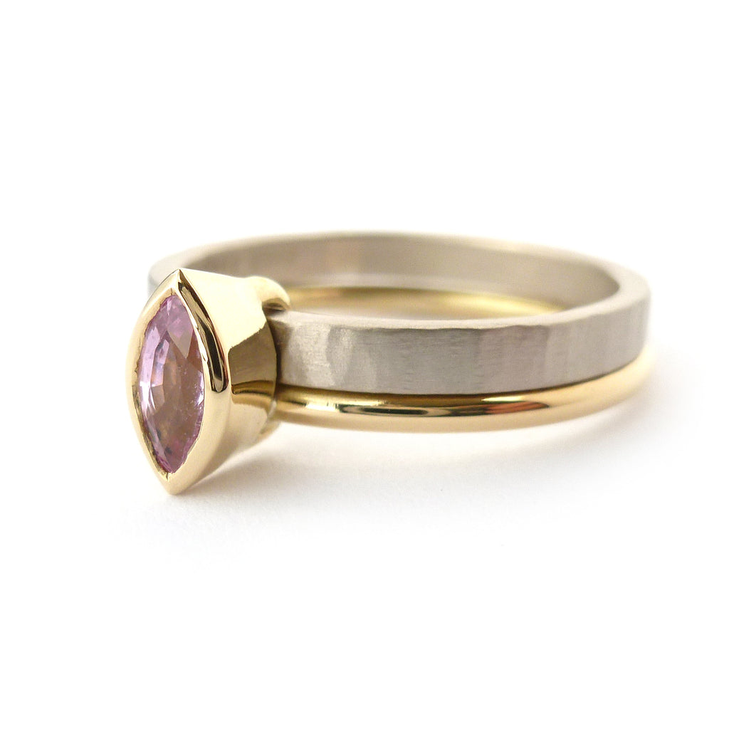 18k Gold and Pink Sapphire Ring (nrg10) - Sue Lane Contemporary Jewellery - 2