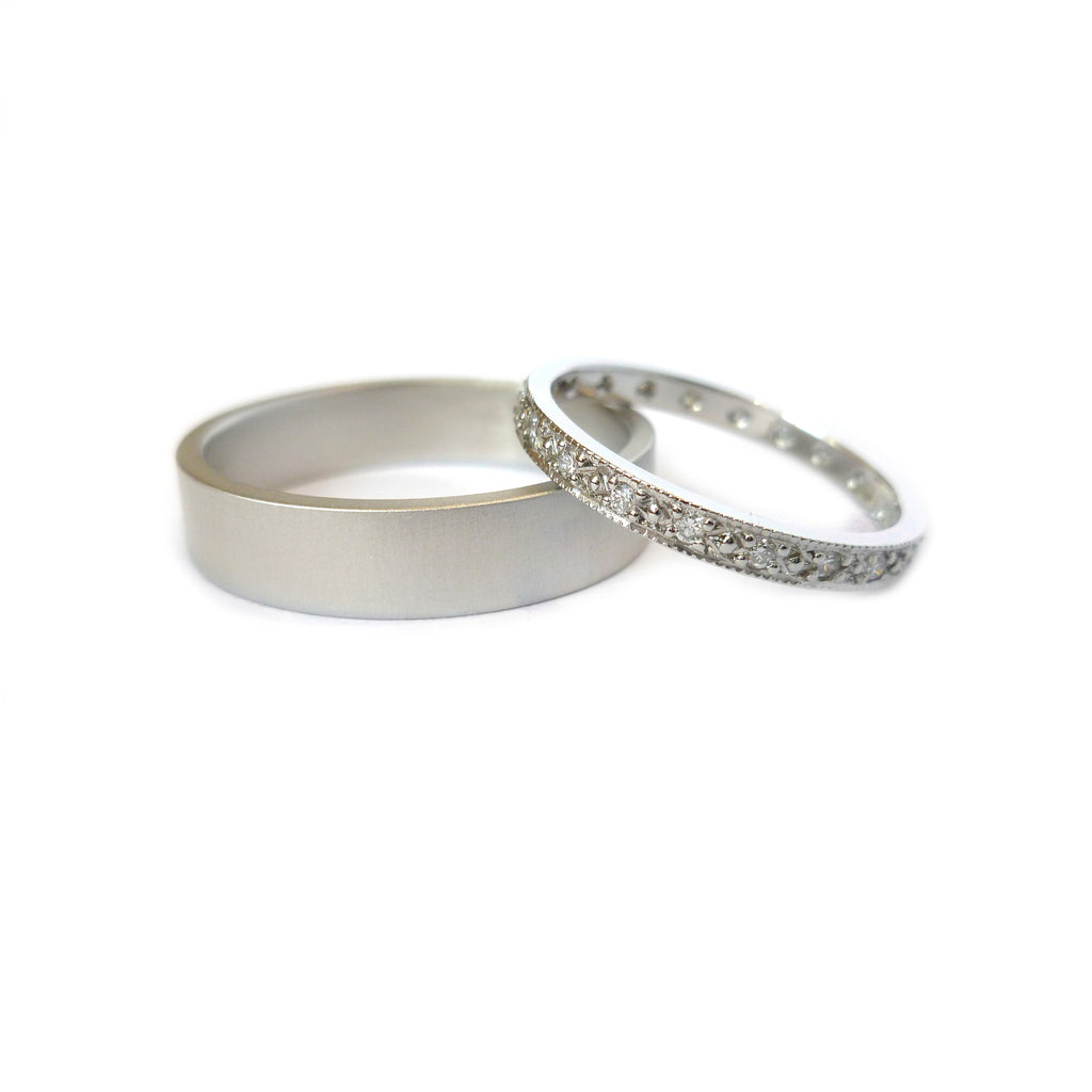 Platinum and Diamond Ring (plr9) - Sue Lane Contemporary Jewellery - 4