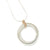 Contemporary Gold, Silver and Diamond Necklace (cir07) - Sue Lane Contemporary Jewellery - 3