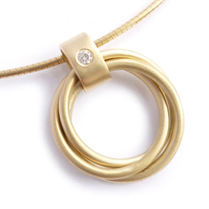 Contemporary 18k Gold and Diamond Necklace (cir08) - Sue Lane Contemporary Jewellery - 1