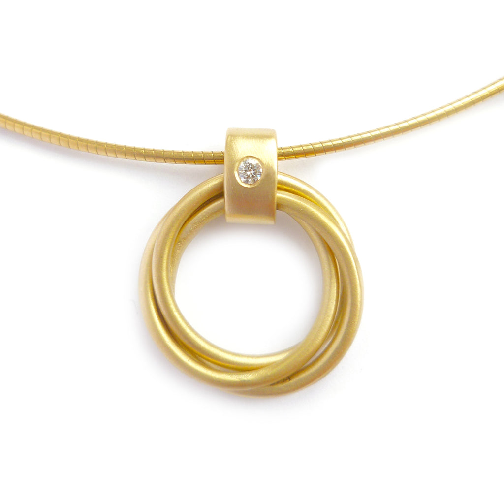 Contemporary 18k Gold and Diamond Necklace (cir08) - Sue Lane Contemporary Jewellery - 4