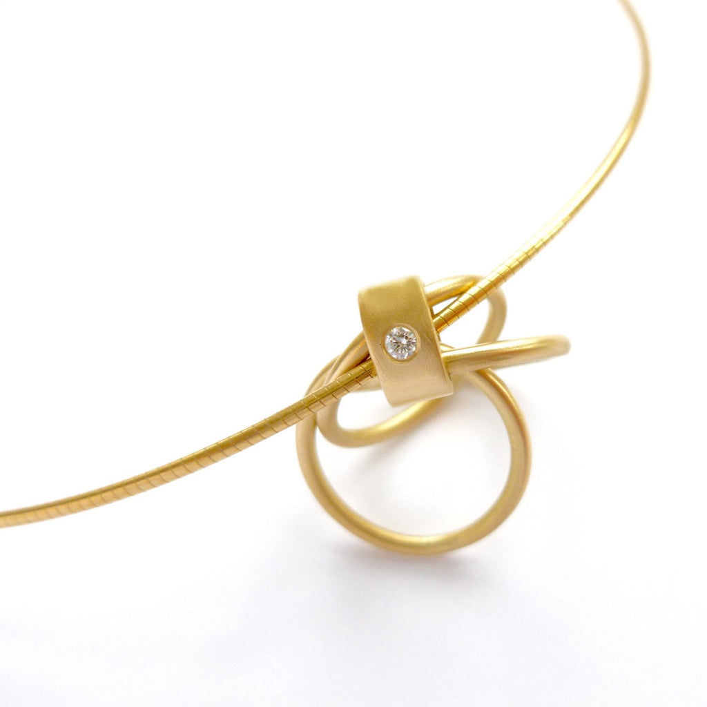 Contemporary 18k Gold and Diamond Necklace (cir08) - Sue Lane Contemporary Jewellery - 7