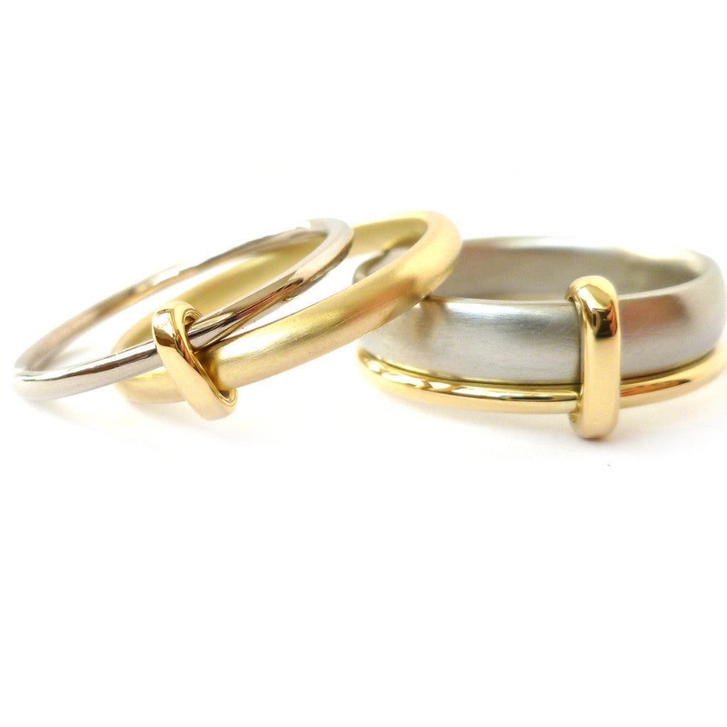 18k gold two band ring (rd18) - Sue Lane Contemporary Jewellery - 5
