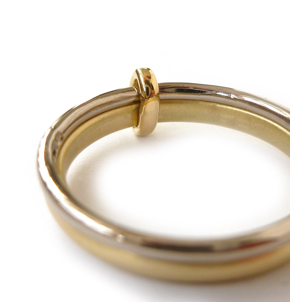 18k gold two band ring (rd18) - Sue Lane Contemporary Jewellery - 3