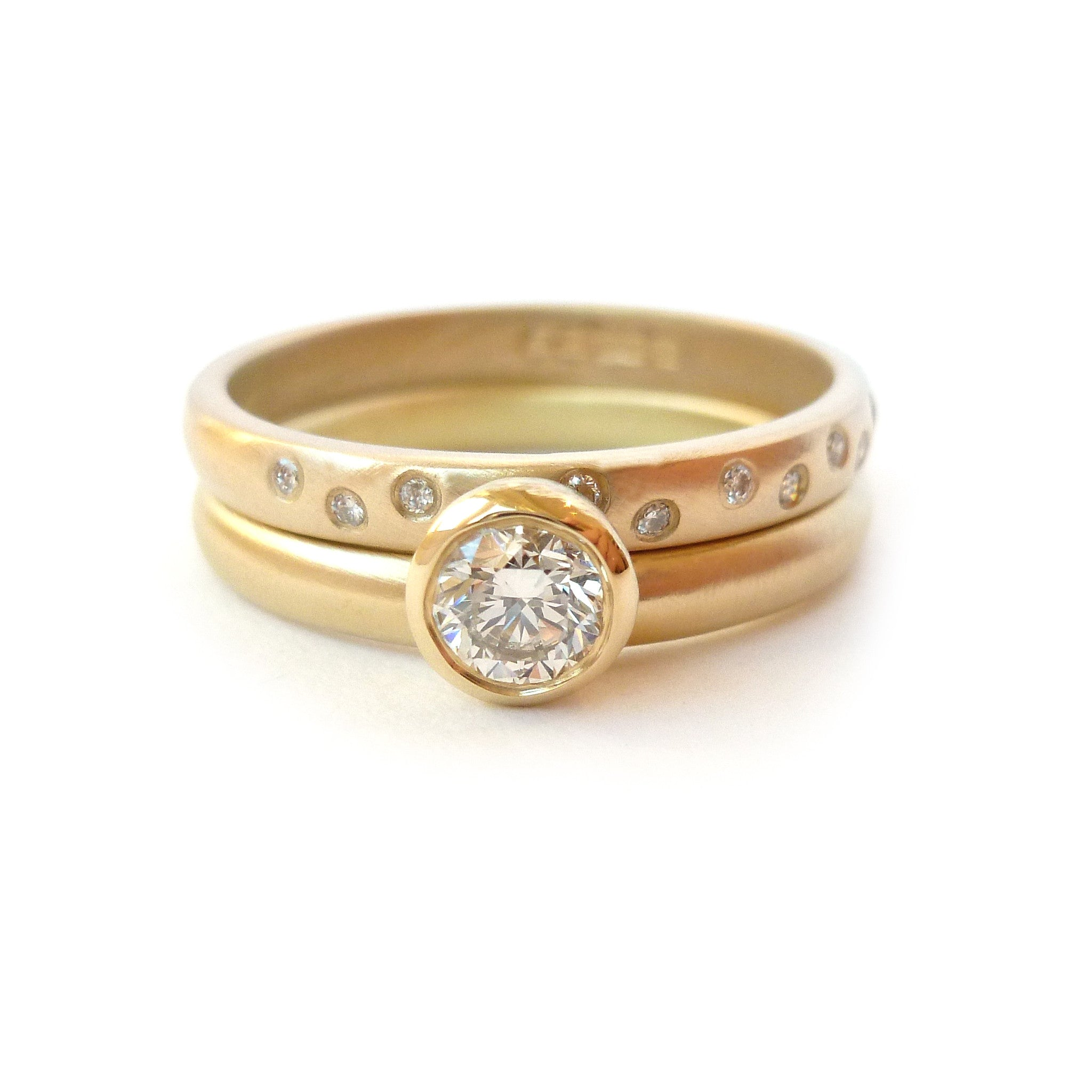 rose showcase cognac with gold diamond engagement mccaul ring goldsmiths rings oval modern wedding