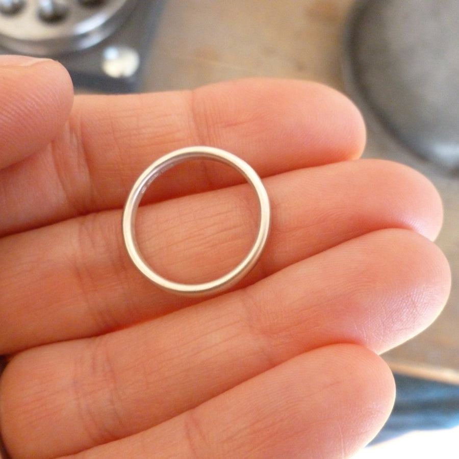 Silver ring - simple and subtle