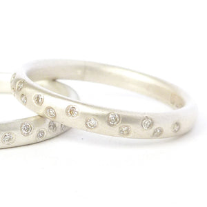 matt silver and diamond eternity ring