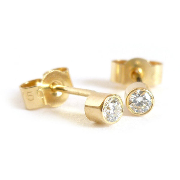 18k gold diamond earrings (ge25mm)