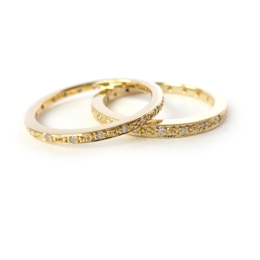 18k gold and pave set diamond ring (18nrd07)