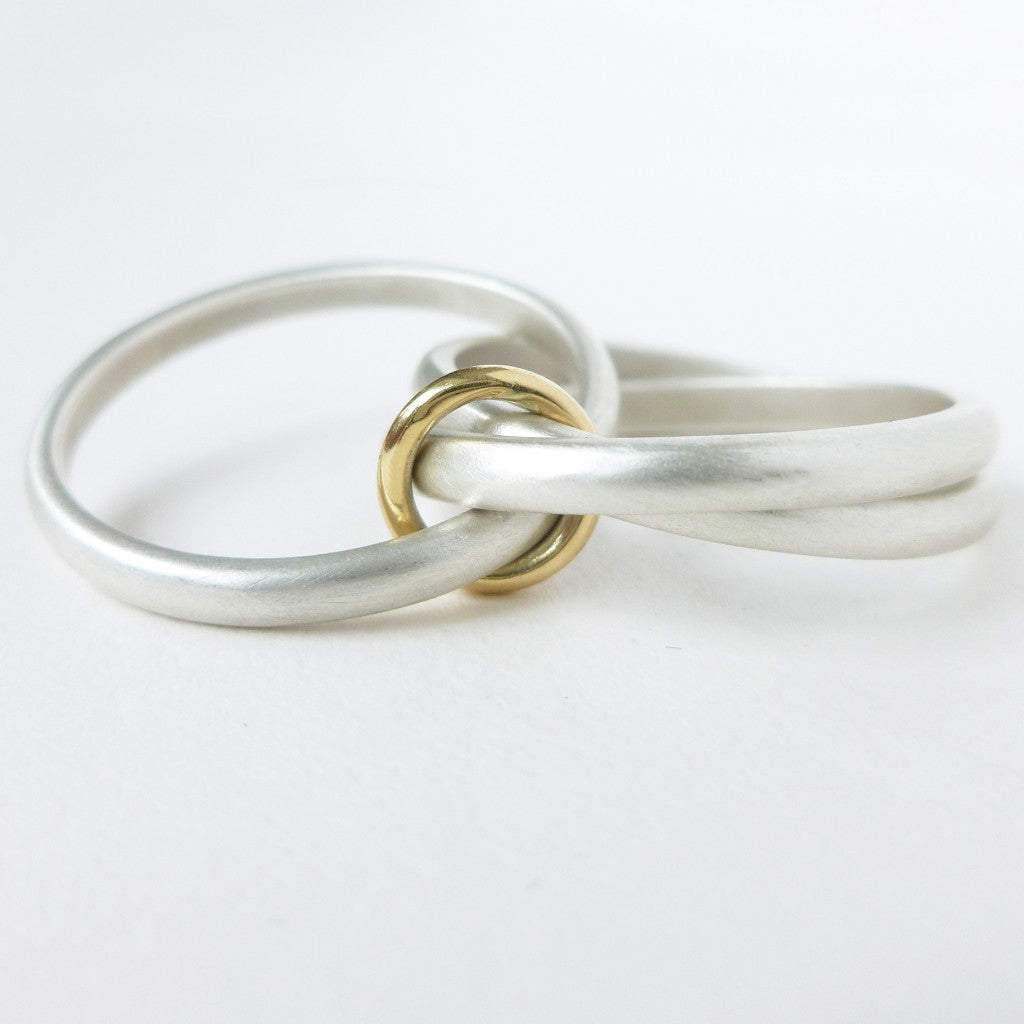 Unusual Unique Bespoke And Modern Silver Russian Wedding Ring Playful Tactile