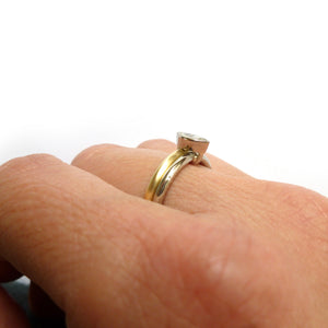 two band stacking wedding ring