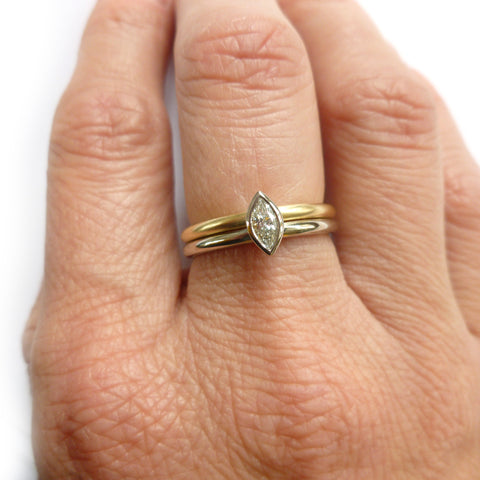 two linking rings joined together making a special engagement ring