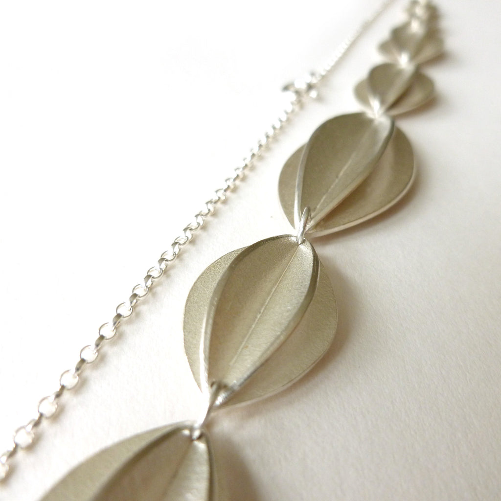 silver leaf necklace by sue lane