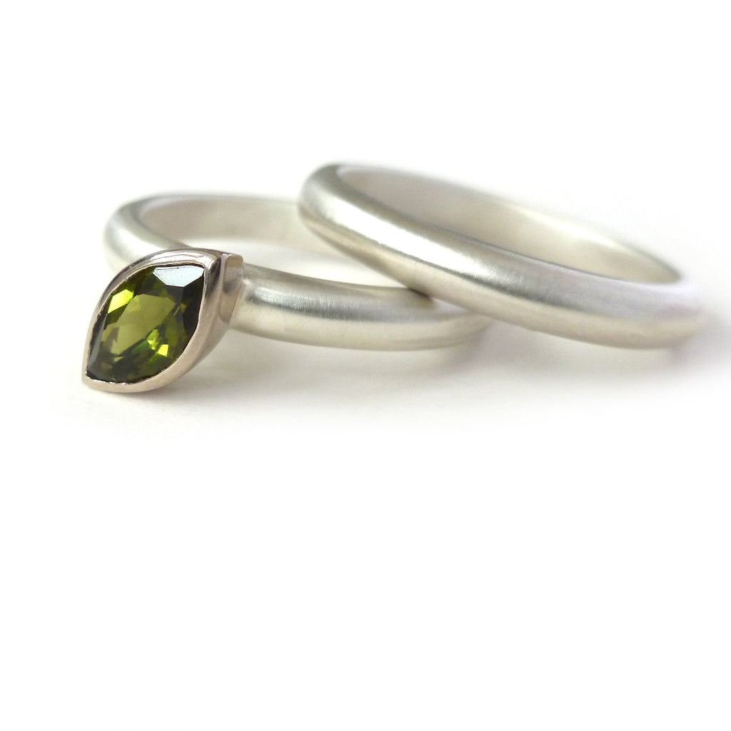 modern stacking silver rings