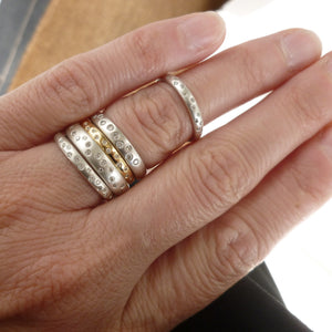 matt and polished diamond eternity rings