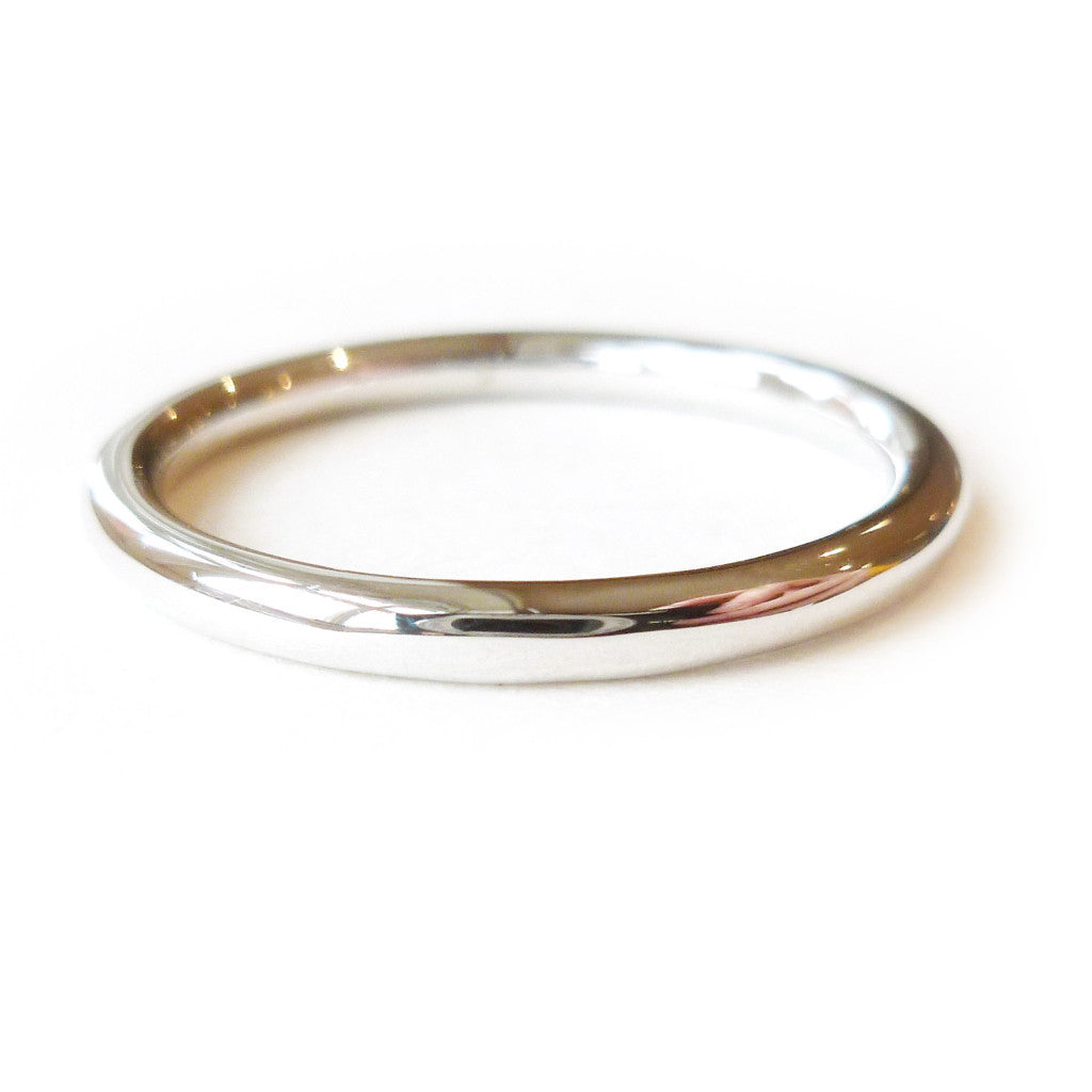 Platinum ring - perfect as a modern wedding ring