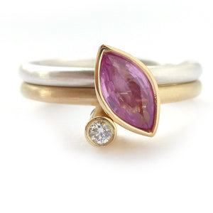 One of a kind stacking ringset, handmade in Herefordshire