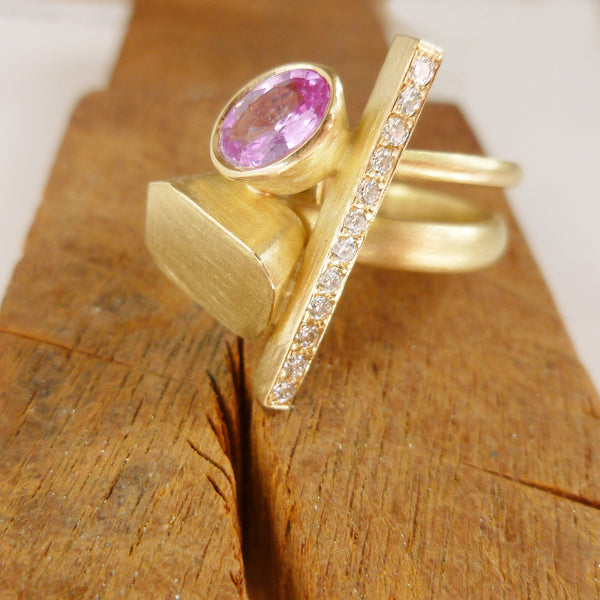 COMING SOON: Pink sapphire and diamond ring (OF67)
