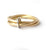 modern alternative gold dress ring or wedding ring
