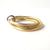 modern stacking twisted wedding ring in white and yellow gold