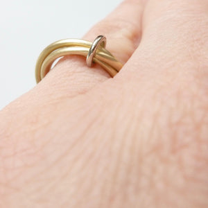 contemporary gold wedding ring,  handmade by Sue Lane in the UK