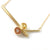 18ct yellow gold and yellow sapphire bespoke necklace