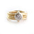polished 18ct gold and diamond russian style diamond ring. Multi band ring or interlocking ring.