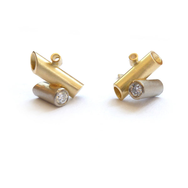 18k gold diamond earrings (ge2)