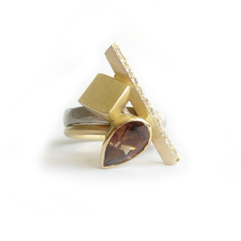 COMING SOON: Bespoke garnet and diamond ring (OF76)
