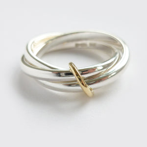 modern silver russian style wedding ring handmade in UK