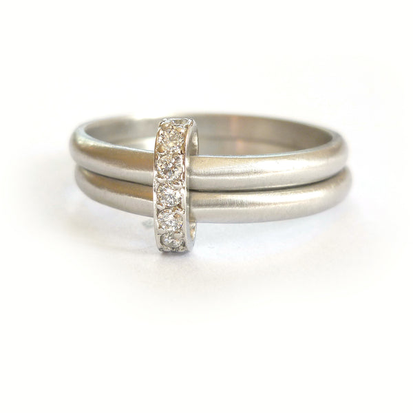bespoke modern platinum and diamond eternity ring