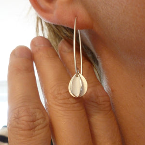 Silver hook earrings - simple and beautiful