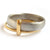Platinum and 18ct gold two band ring contemporary hand made Sue Lane