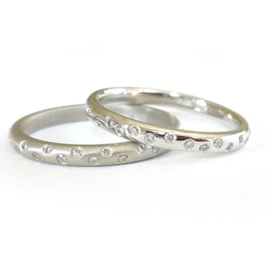 Platinum and diamond engagement, wedding or eternity ring (RTB) Size M