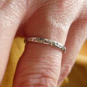 Platinum and diamond engagement wedding or eternity ring contemporary