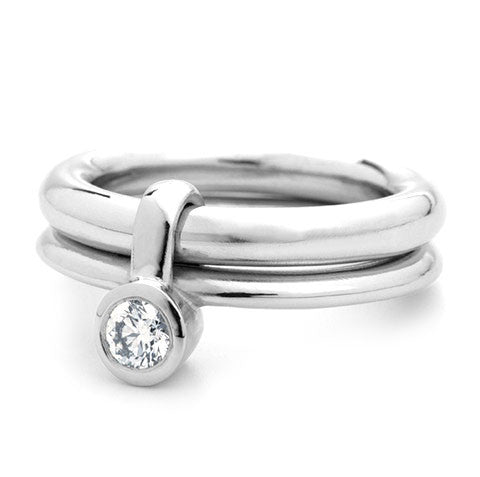 16525d0e7 Unusual, unique, bespoke and modern chunky platinum and diamond wedding ring,  engagement ring