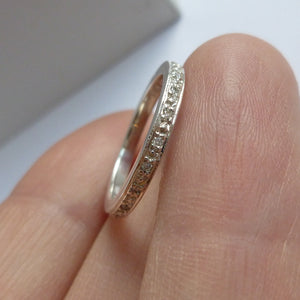 Silver and diamond ring - modern and handmade commission