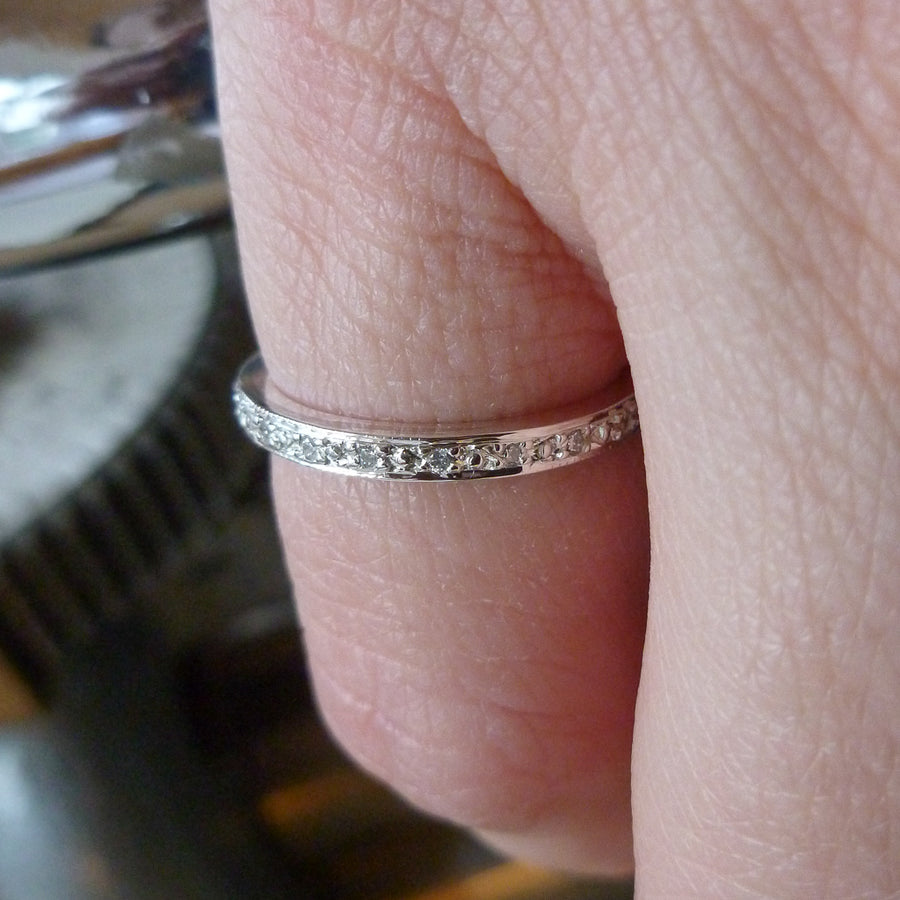 Silver and Diamond classic eternity ring - Sue Lane Contemporary Jewellery - 1